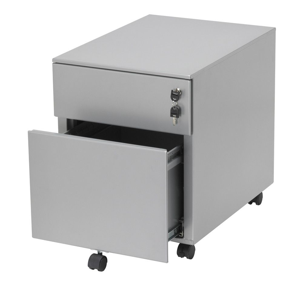 This drawer unit is equipped with telescopic guides and a pen tray | choose a healthy workplace visit Worktrainer.com