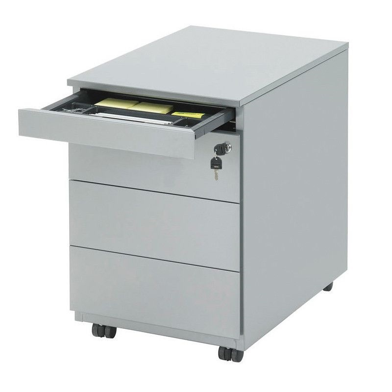 Drawer unit 3 trays with your sit standing desk | everything for a healthy workplace visit Worktrainer.com