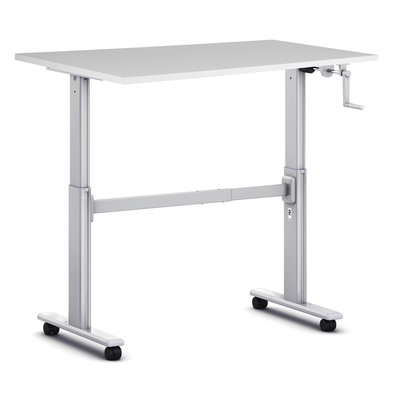 Small sit-stand desk S100 - With wheels