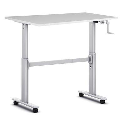 Sitz-Steh-Schreibtisch S100 - Mit Rollen