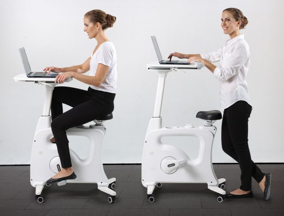 Flexispot | Partial exercise bike, partly ergonomic desk, the Deskcise Pro V9 | choose a healthy way of working visit Worktrainer.com