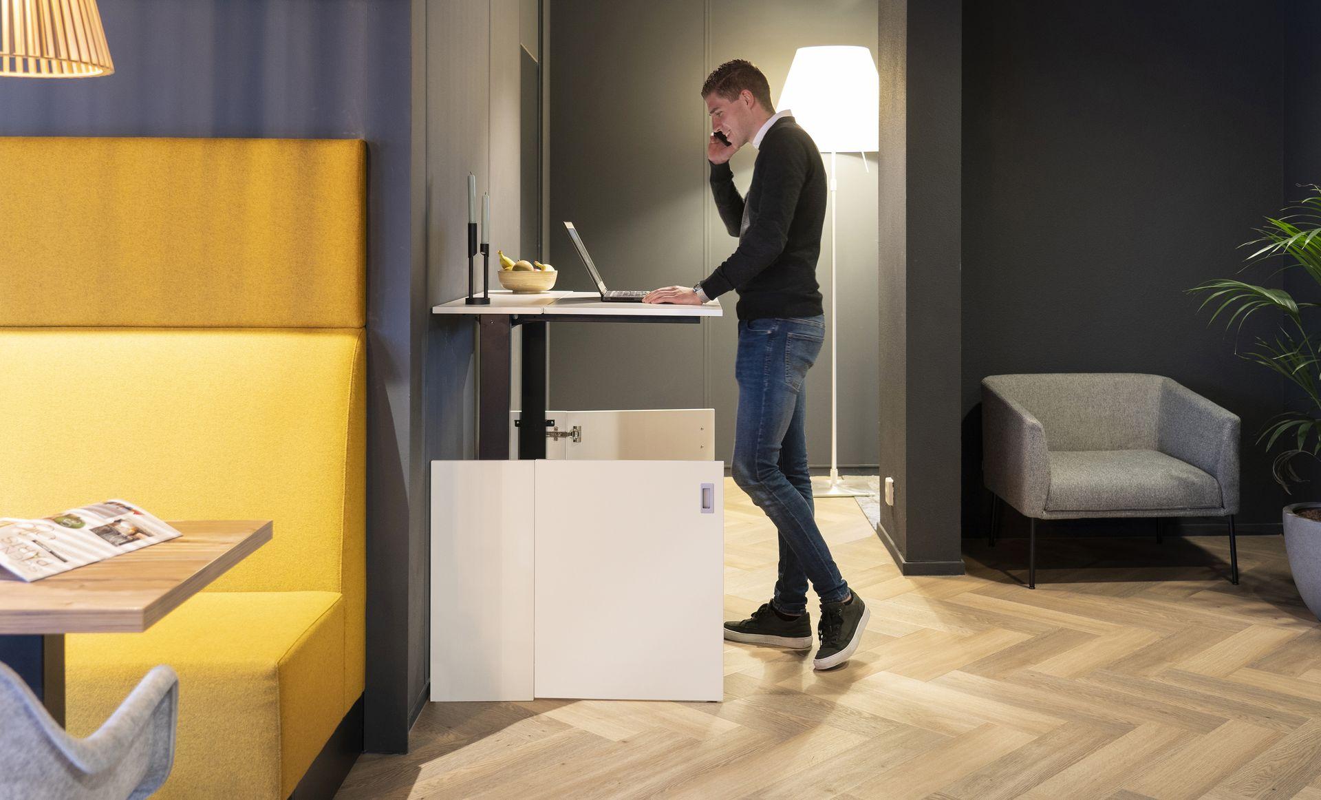 HomeFit zit-sta bureau | Worktrainer.nl