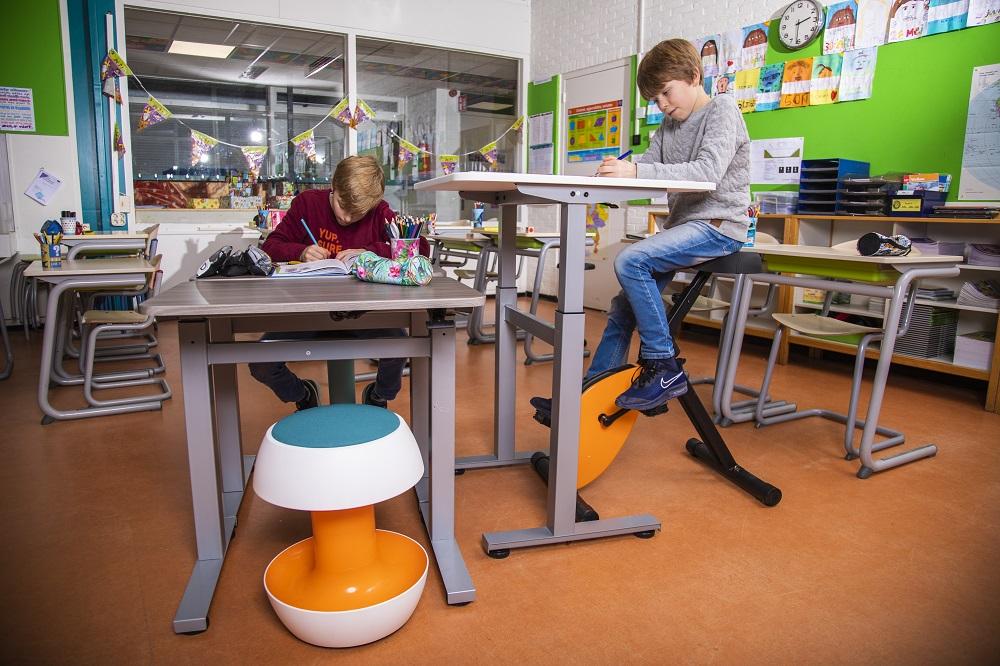 deskbike sta-zit bureau klas