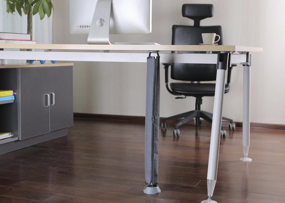 kabelsok grijs voor kabels bureau