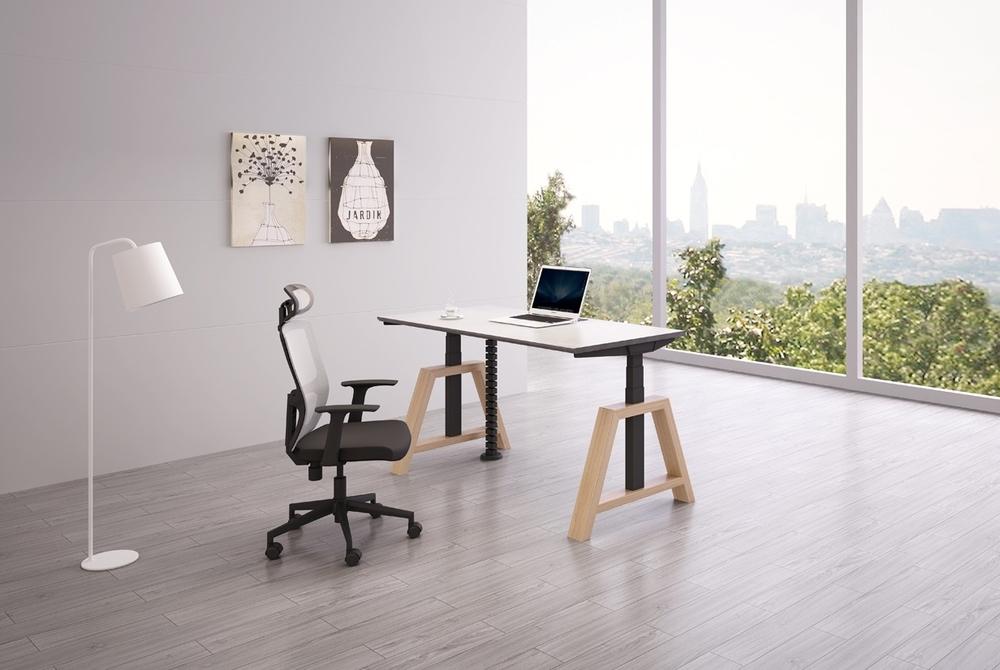 bureau kantoor Oak Desk | zit sta bureau | kies voor een gezonde werkplek bezoek Worktrainer.nl