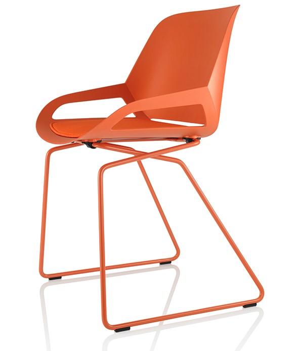 actieve designstoel oranje