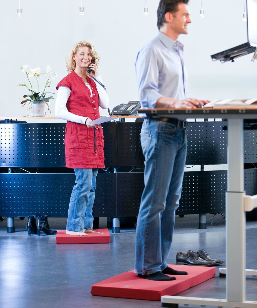Kybun standing mat | choose a healthy workplace visit Worktrainer.com