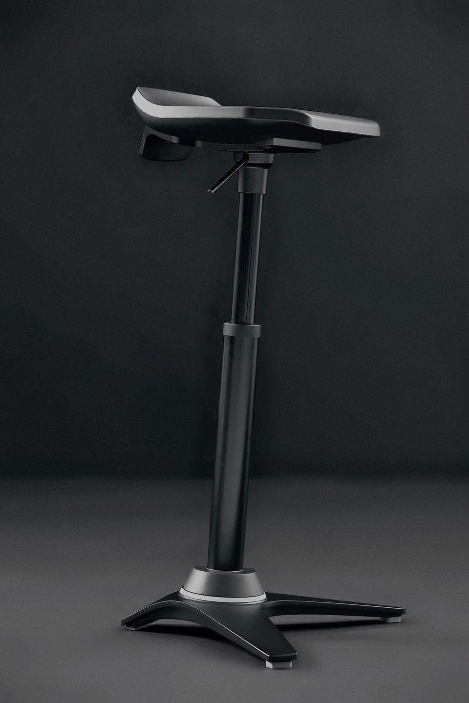 Aeris Muvman Industry | Active Sitting with Worktrainer | Sit-stand stool | Worktrainer.com