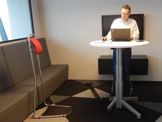 Stand4Work standing chair  ergonomic office furniture   Worktrainer.com