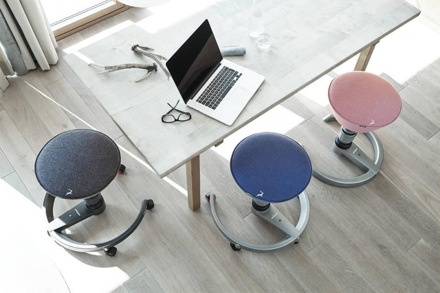 Aeris Swopper Luna Vilt balance chair | balance chairs for the workplace Worktrainer.com