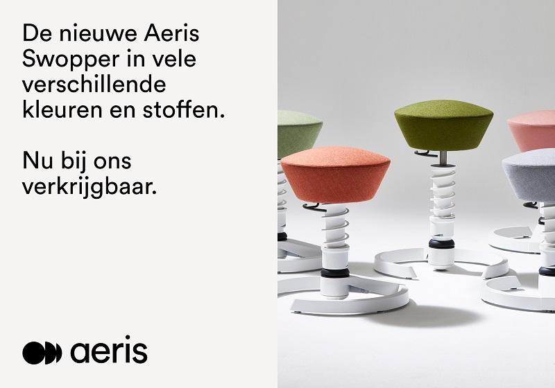 Aeris Swopper Balanskruk | Gezond zitten op ons actieve kantoormeubilair | Worktrainer.nl