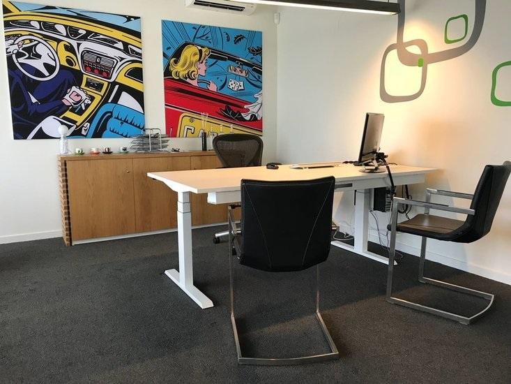 Steelforce 670 sit stand desk | choose a healthy workplace visit Worktrainer.com