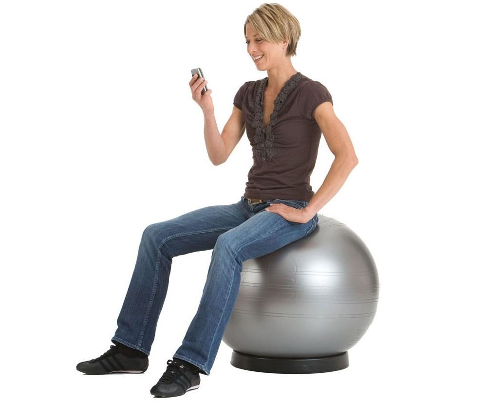 zitbal steun | accessoires voor je werkplek bezoek Worktrainer.nl