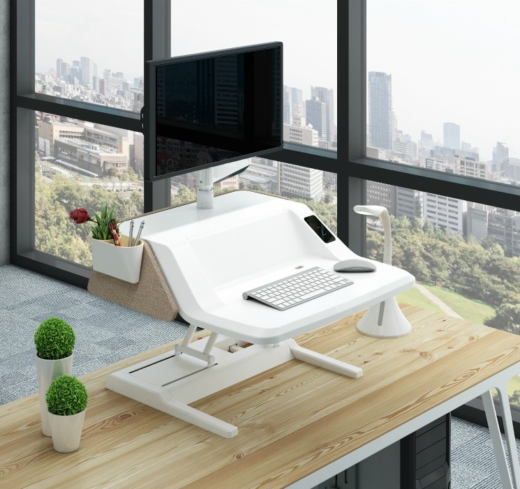 Workstation Flexidesk sit stand desk | choose a healthy workplace visit Worktrainer.com