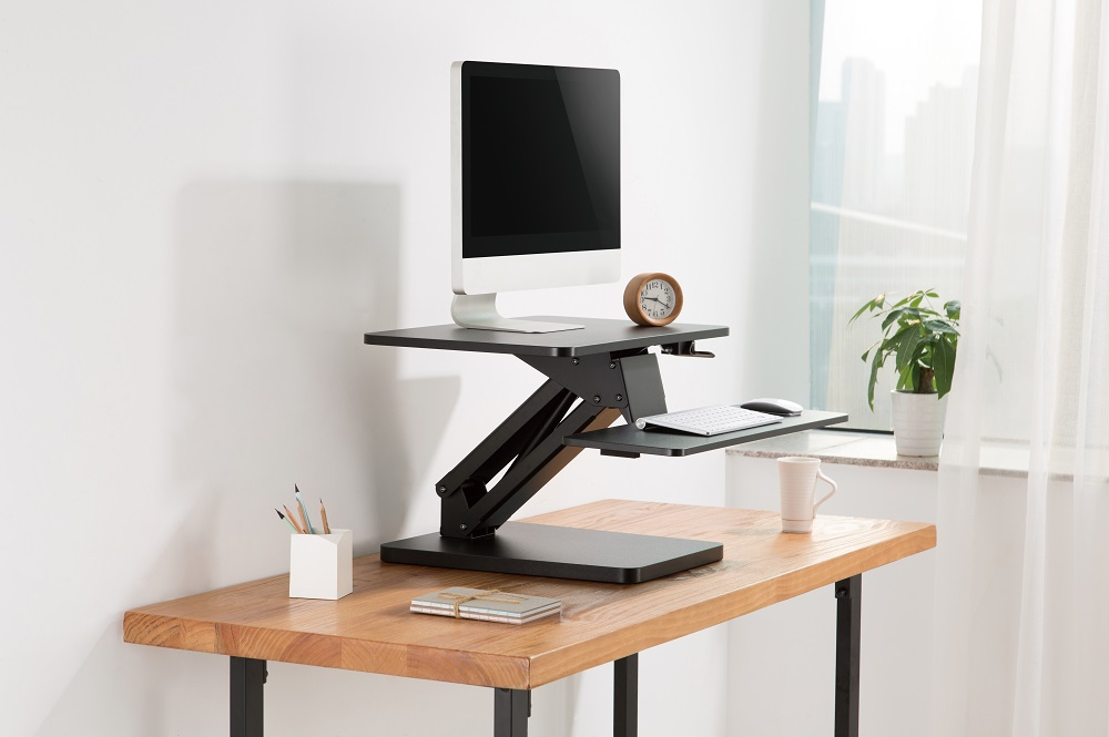 Updesk One zit-sta verhoger | kies voor een gezonde werkplek bezoek Worktrainer.nl