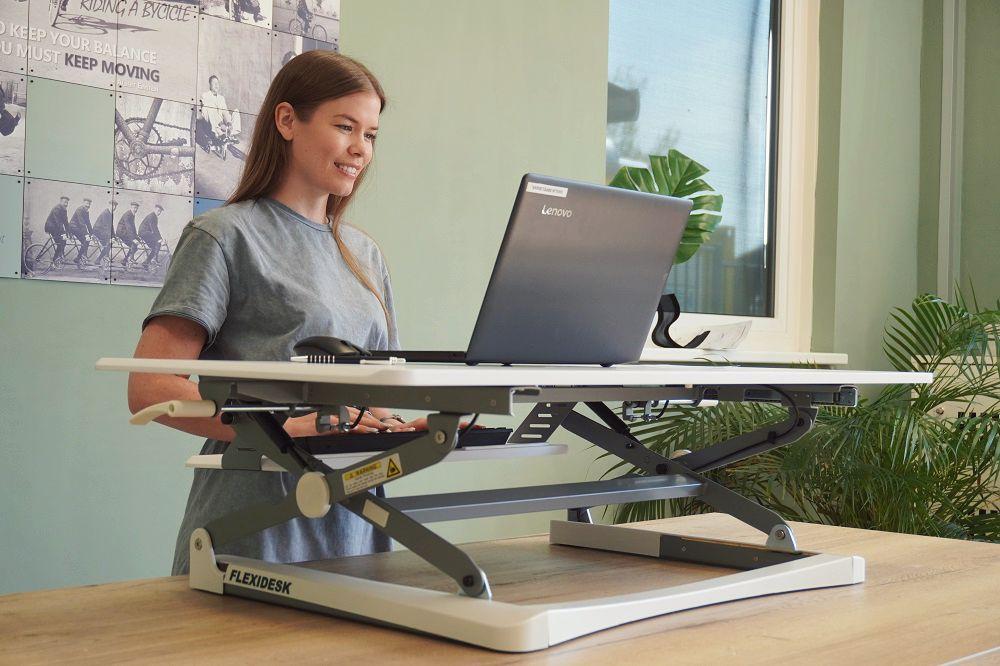 UPdesk XL desk riser | choose a healthy workplace visit Worktrainer.com