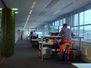 Deskbikes achter de zit-sta bureau's