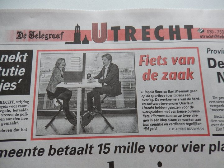 Oracle staat met de actieve werkplek in de Telegraaf Utrecht
