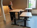 Aluforce 140 handslinger zit stabureau  | wissel staan en zitten achter je bureau af | Worktrainer.nl