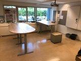 3 poten vergadertafel s675 Wand muurtafel | kies voor een gezonde werkplek bezoek Worktrainer.nl