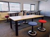 Ultra Next zwart zit sta bureau | kies voor een gezonde werkplek bezoek Worktrainer.nl