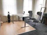 Steelforce 671 hoekbureau zilver | Wissel zitten en staan af op werk | Worktrainer.nl