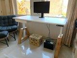 Oakdesk wit | zit sta bureau | kies voor een gezonde werkplek bezoek Worktrainer.nl