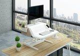 werkstation FlexiDesk | Bureau verhoger | kies voor een gezonde werkplek bezoek Worktrainer.nl