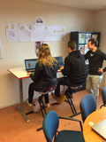 Deskbike bureaufiets in de les| Fiets je fit achter je bureau | Worktrainer.nl