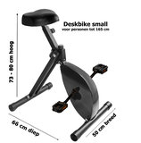 afmetingen deskbike Small | Fiets je fit achter je bureau | Worktrainer.nl