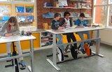 Deskbike Small in de klas l Deskbike bureaufiets | Fiets je fit achter je bureau | Worktrainer.nl
