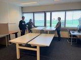 Dubbel zit sta bureau Honmove   | wissel staan en zitten achter je bureau af | Worktrainer.nl