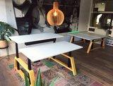 Oak desk workbench  dubbel zit sta bureau | kies voor een gezonde werkplek bezoek Worktrainer.nl