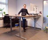 s471 zit sta bureau met zitbal | kies voor een gezonde werkplek bezoek Worktrainer.nl