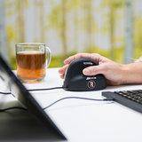 Oranje Signaal R-Go Tools RE Break Mouse muis verticale | accessoires voor je werkplek bezoek Worktrainer.nl