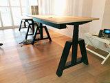 Oak Desk Zwart | zit sta bureau | kies voor een gezonde werkplek | Worktrainer.nl