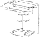 Afmetingen Compact zit-sta bureau | Thuiswerkplek | Worktrainer.nl