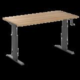 Aluforce 140 handmatig verstelbaar bureau  | wissel staan en zitten achter je bureau af | Worktrainer.nl