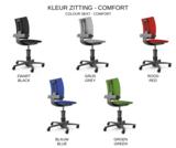3Dee actieve stoel blauw alle accessoires bij je zit-sta bureau koop je online bij Worktrainer.nl