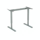 Zilveren frame SteelForce 300 zit-sta bureau | Staan achter je bureau | Worktrainer.nl