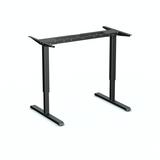 Zwart frame SteelForce 300 zit-sta bureau | Staan achter je bureau | Worktrainer.nl