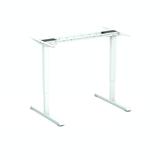 Wit frame SteelForce 300 zit-sta bureau | Staan achter je bureau | Worktrainer.nl