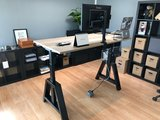 Galaxy monitorarm enkel | accessoires voor je werkplek bezoek Worktrainer.nl