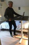 SteelForce 370 single column sta tafel klein | Worktrainer.nl