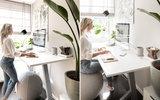 Influencer Muk van Lil met Y desk en Vluv Stov