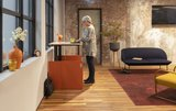 HomeFit inklapbaar zit-sta bureau | Opbergbaar in een kastje | Worktrainer.nl