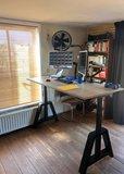 Oak Desk | zit sta bureau | kies voor een gezonde werkplek bezoek Worktrainer.nl
