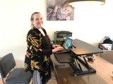 Updesk Cross bediening bureauverhoger | kies voor een gezonde werkplek bezoek Worktrainer.nl