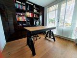 Design Hoog Laag Bureau - Elektrisch Zit-Sta Bureau - OakDesk - Worktrainer.nl