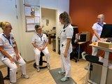 Swopper Aeris Zit-Sta Beweegkruk actief veer Premium Leer worktrainer.nl